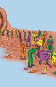 The Earie Mine of Crayon Canyon