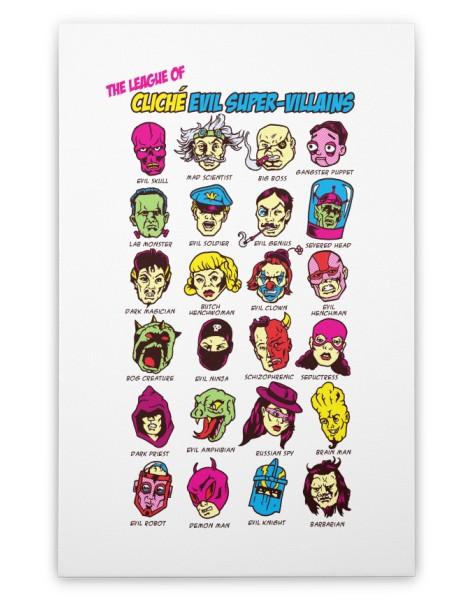 The League of Cliche Evil Super-Villains Hero Shot