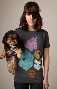 Animals with Eyepatches! Yes!, Animal Tees + Threadless Collection