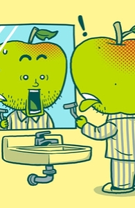 The Apple Shaving Accident