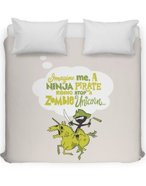 Imagine me, a Ninja Pirate, riding atop a zombie unicorn... Hero Shot
