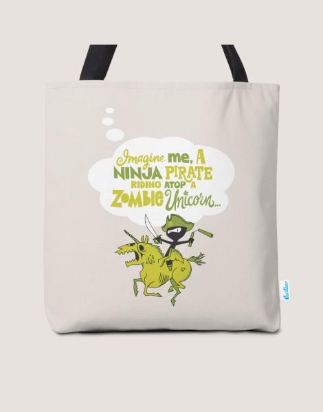 Imagine me, a Ninja Pirate, riding atop a zombie unicorn... Hero Shot
