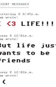 I Love Life, But Life Just Wants to Be Friends