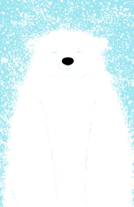 It's a Polar Bear Blinking in a Blizzard
