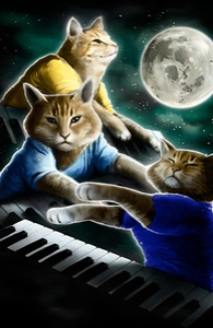 Three Keyboard Cat Moon: iPhone 4 Case
