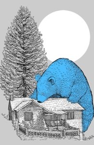 The Gigantic Blue Bear of Portola