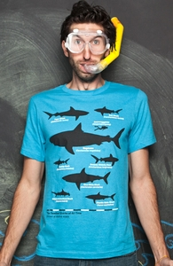 The Deadliest Sharks of All Time, New Designs and Recent Reprints + Threadless Collection