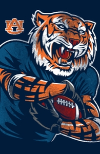 Auburn: Powerful Aubie Hero Shot