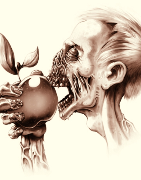 Vegetarian Zombie Hero Shot