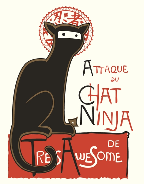 A French Ninja Cat! Hero Shot