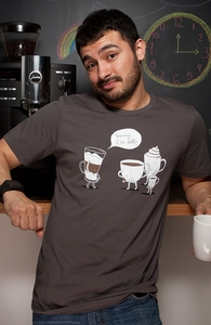 Coffee That's Always Late, New and Top Selling Funny T-Shirts + Threadless Collection