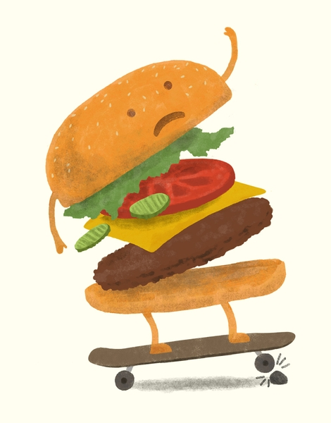 Burger Wipeout Hero Shot