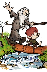 Halfling and Wizard