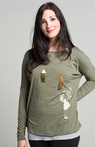 Lucy In The Sky: Select Threadless Long Sleeve Dolman , Girly Select + Threadless Collection