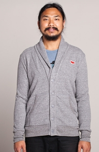 A Fox with Socks: Threadless Guys French Terry Shawl Cardigan, Guys Select + Threadless Collection