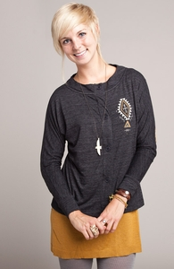 Sender: Threadless Tri-Blend Dolman Cardigan, Girly Select + Threadless Collection