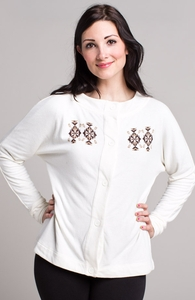 The Queen: Threadless Tri-Blend Dolman Cardigan, Girly Select + Threadless Collection