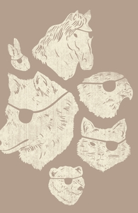 Animals With Eyepatches! Yes!: Threadless Pet Bed, Pet Beds + Threadless Collection