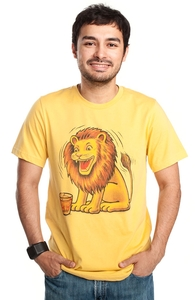 The Lion That Loves Scotch, Animal Tees + Threadless Collection