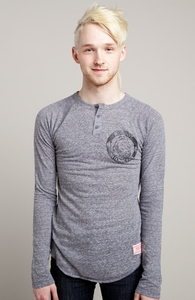 Enjoy The Wild: Threadless Guys Long Sleeve Henley, Guys Select - 40% Off Winter Collection + Threadless Collection