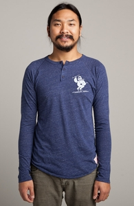 Yeti Trouble: Threadless Guys Long Sleeve Henley, Guys Select - 40% Off Winter Collection + Threadless Collection