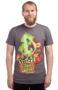 Attack of the Giant Creeper!, Minecraft Tees + Threadless Collection