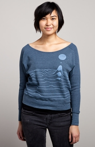 Ripple: Threadless Girly Loose Thermal Raglan, Girly Select - 40% Off Winter Collection + Threadless Collection