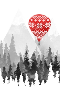 Grandma's Hot Air Balloon: Threadless Throw Pillow