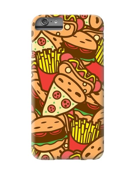 Burger, Hot Dog, Pizza and Fries Hero Shot