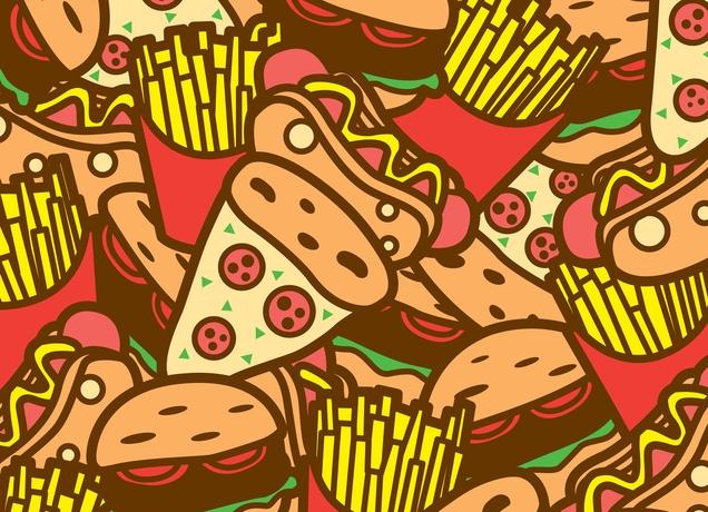 hamburger and fries wallpaper - photo #35