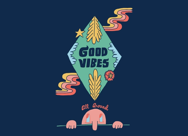 Good Vibes all Aroundu0026quot; by sirwwoods on mens t-shirts : Threadless