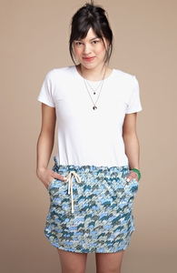 Waves: Girly Poplin Skirt, Select Girly + Threadless Collection