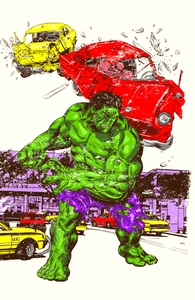 Hulk in the City Hero Shot
