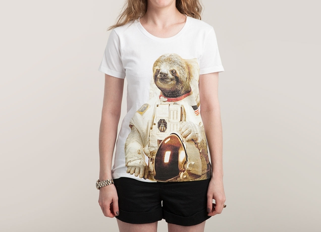 "Astronaut Sloth"" - Threadless.com - Best t-shirts in the world"
