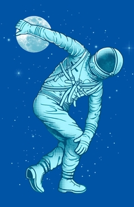 Astronaut Discus Throwing