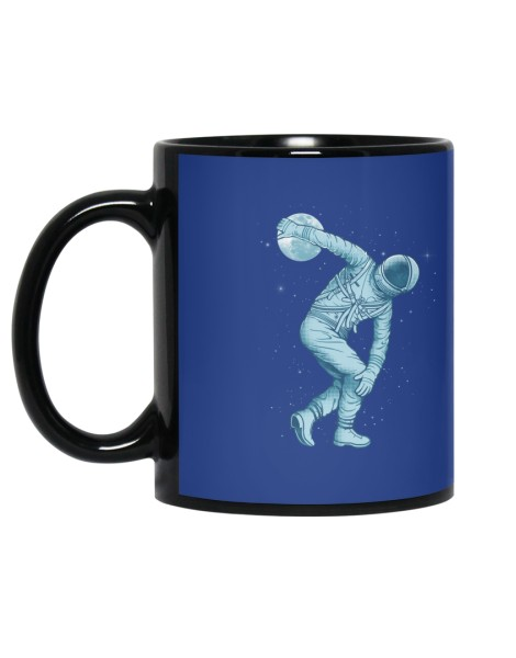 Astronaut Discus Throwing Hero Shot