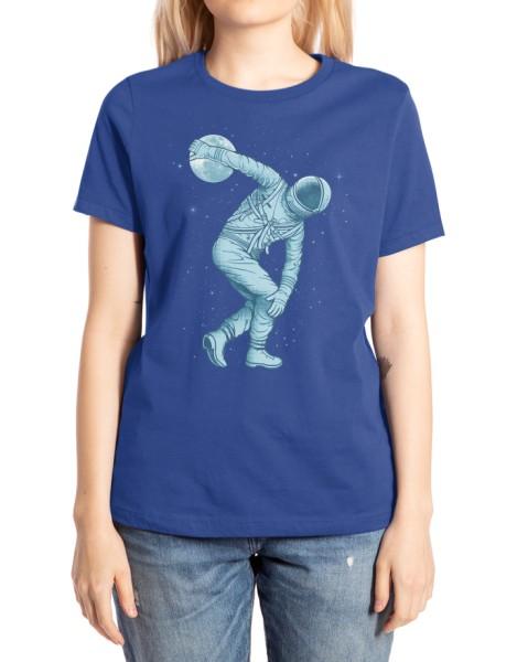 Astronaut Discus Throwing Hero Shot