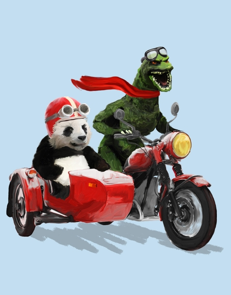 Godzilla and Panda Hero Shot