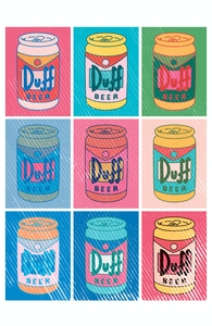 Duff Beer Can Pop Art Hero Shot
