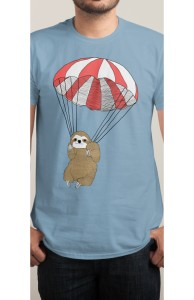 Parachuting Sloth Hero Shot