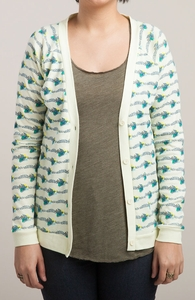Flock: Girly Baby Rib V-Neck Cardigan Hero Shot