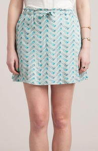 Moody Malibu Mayhem: Girly Pima / Modal Knit Skirt Hero Shot