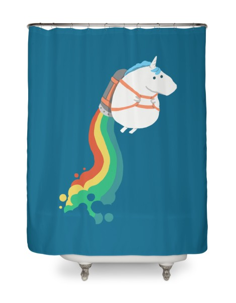 Fat Unicorn on Rainbow Jetpack Hero Shot