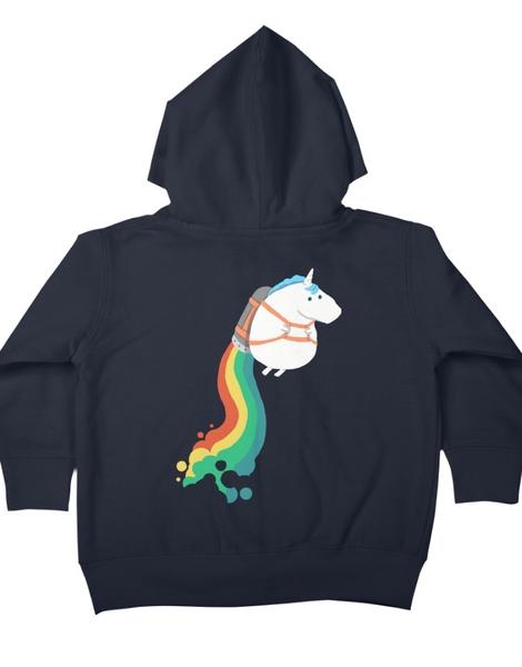 Fat Unicorn on Rainbow Jetpack Hero Shot