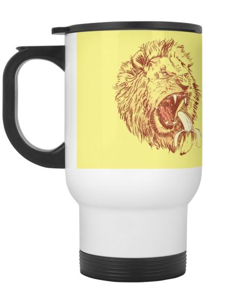 Banana Eating Lion Hero Shot