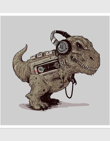 Tyrannosaurus Walkman Hero Shot