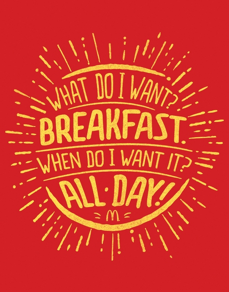 What? Breakfast. When? All Day. Hero Shot
