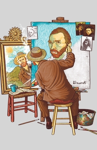 Van Gogh Triple Self-Portrait Hero Shot