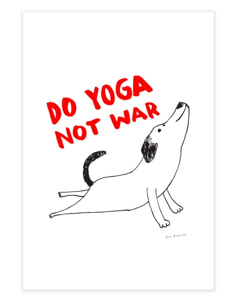 Do Yoga Not War Dog Hero Shot