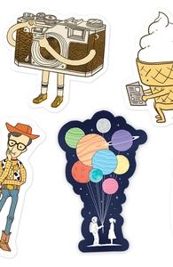 Sticker Pack - ilovedoodle Hero Shot